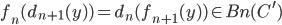 { f_{n}(d_{n+1}( y ) )=d_{n}( f_{n+1}( y ) )\in B{n}( C^{\prime} ) }