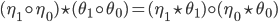 {(\eta_1 \circ \eta_0) \star (\theta_1 \circ \theta_0) = (\eta_1 \star \theta_1) \circ (\eta_0 \star \theta_0)}