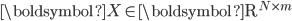 {\boldsymbol{X} \in \mathrm{\boldsymbol{R}}^{N \times m}}