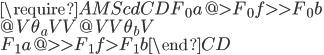 {\require{AMScd}\begin{CD} F_0 a @>{F_0 f }>> F_0 b \\ @V{\theta_a}VV @VV{\theta_b}V \\ F_1 a @>>{F_1 f }> F_1 b  \end{CD}}