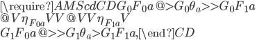{\require{AMScd}\begin{CD} G_0 F_0 a @>{G_0 \theta_a}>> G_0 F_1 a \\ @V{\eta_{F_0 a}}VV @VV{\eta_{F_1 a}}V \\ G_1 F_0 a @>>{G_1 \theta_a}> G_1 F_1 a, \end{CD}}