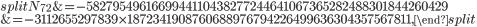 {\small \begin{equation}\begin{split}N_{72}&=-5827954961669944110438277244641067365282488301844260429\\ &=-3112655297839\times 1872341908760688976794226499636304357567811,\end{split}\end{equation}}