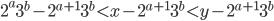 2^{a}3^{b}-2^{a+1}3^{b}\lt x-2^{a+1}3^{b}\lt y-2^{a+1}3^{b}