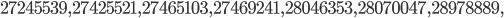 27245539, 27425521, 27465103, 27469241, 28046353, 28070047, 28978889,