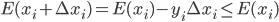 E (x_{i} + \Delta x_{i} ) = E (x_{i} ) - y_{i} \Delta x_{i} \leq E (x_{i} )