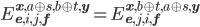 E^{\bf{x},a\oplus s,b\oplus t,\bf{y}}_{\bf{e},i,j,\bf{f}}=E^{\bf{x},b\oplus t,a\oplus s,\bf{y}}_{\bf{e},j,i,\bf{f}}