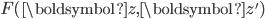 F(\boldsymbol{z}, \boldsymbol{z}')