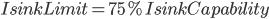 IsinkLimit=75%IsinkCapability