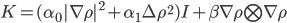 K=(\alpha_0|\nabla\rho|^2+\alpha_1\Delta\rho^2)I+\beta\nabla \rho\bigotimes\nabla\rho