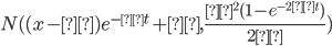 N( (x-μ)e^{-κt}+μ, \frac{σ^{2}(1-e^{-2κt})}{2κ} )