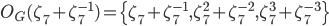 O_G(\zeta_7^{}+\zeta_7^{-1}) =\{\zeta_7^{}+\zeta_7^{-1}, \zeta_7^{2}+\zeta_7^{-2}, \zeta_7^{3}+\zeta_7^{-3}\}