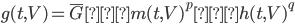 g(t,V)=\overline{G}・m(t,V)^p・h(t,V)^q