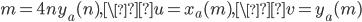 m=4ny_a(n), \u=x_a(m), \v=y_a(m)
