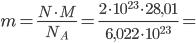 Látkové množství - výpočet příkladu