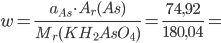 Výpočet příkladu z chemického vzorce
