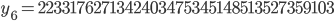y_{6}= 2233176271342403475345148513527359103