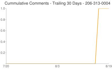 Cummulative Comments 206-313-0004