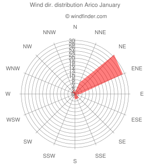 Wind direction distribution Arico January