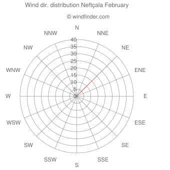 Wind direction distribution Neftçala February