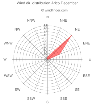 Wind direction distribution Arico December