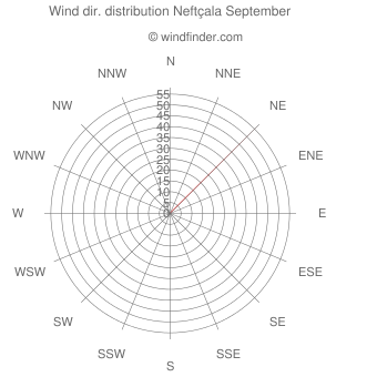 Wind direction distribution Neftçala September