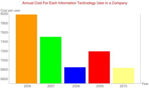 Annual Cost For Each Information Technology User in a Company