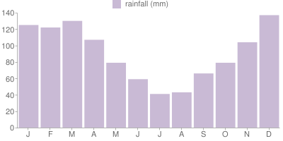 Monthly Rainfall Graph for Brazil