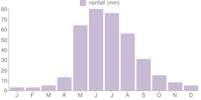 Monthly Rainfall Graph for Chile