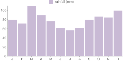 Monthly Rainfall Graph for Argentina