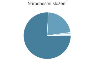 Statistika: Národnostní složení obce Čebín