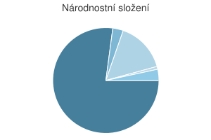 Statistika: Národnostní složení obce Bílá