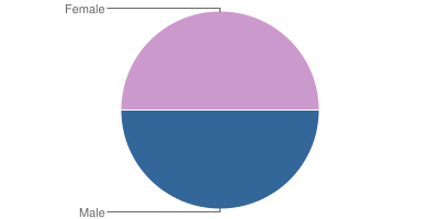 Gender statistics pie chart