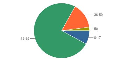 Age statistics pie chart