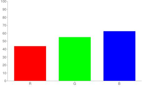 #6f8c9f rgb color chart bar