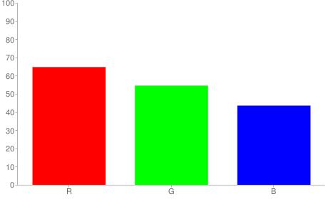 #a58b6f rgb color chart bar