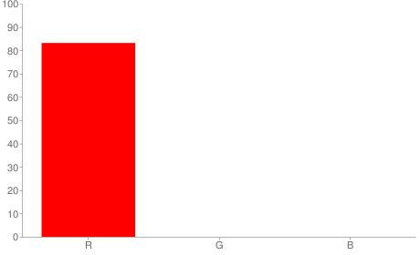 #d40000 rgb color chart bar