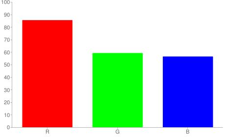 #da9790 rgb color chart bar