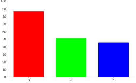 #dd8374 rgb color chart bar