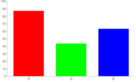 #de6fa1 rgb color chart bar