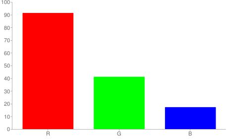 #e9692c rgb color chart bar