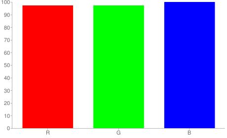 #f8f8ff rgb color chart bar