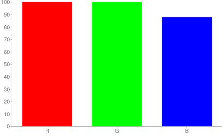#ffffe0 rgb color chart bar