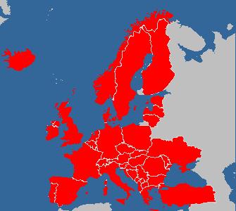 European visitation map