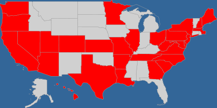 USA visitation map
