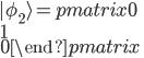 |\phi_{2} \rangle = \begin {pmatrix} 0 \\ 1 \\ 0  \end {pmatrix}