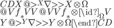 \begin{CD}  X   @>{{}^X\nabla}>> X\otimes\Omega \\  @V{f_\ast}VV           @VV{f_\ast\otimes \id_\Omega}V \\  Y   @>{{}^Y\nabla}>> Y\otimes\Omega \end{CD}