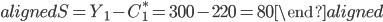 \begin{aligned} S=Y_1-C_1^*=300-220=80 \end{aligned}