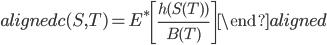 \begin{aligned} c(S,T)=E^{*}\left[\frac{h(S(T))}{B(T)}\right] \end{aligned}