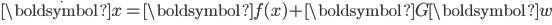 \begin{eqnarray} \dot{\boldsymbol{x}}={\boldsymbol{f(x)}}+{\boldsymbol{G}}{\boldsymbol{w}} \\ \\ \end{eqnarray}