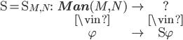 \begin{array}{ccc} {\D = \D_{M, N} :} & {\bf Man}(M, N) & \to & ? \\                    & \vin            &     & \vin \\                    & \varphi         & \mapsto & \D \varphi  \end{array}